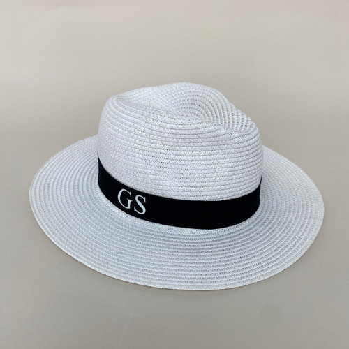 White Personalised Beach Hat