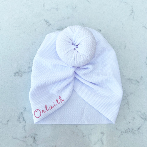 White Knot Baby Hair Accessory