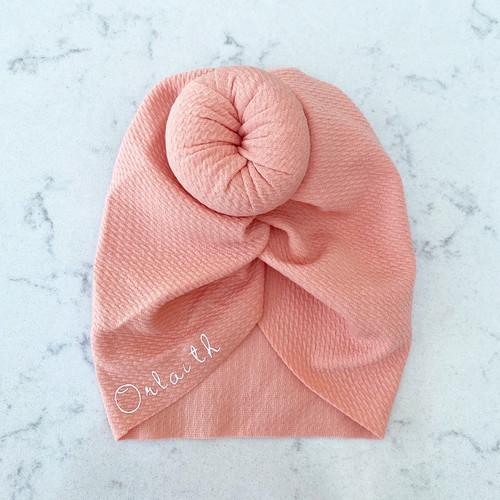 Peach Knot Baby Hair Accessory