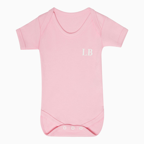 Baby Short Sleeve Pink Personalised Super Soft Bodysuit