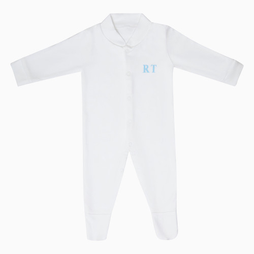 White Baby Personalised Super Soft Babygrow