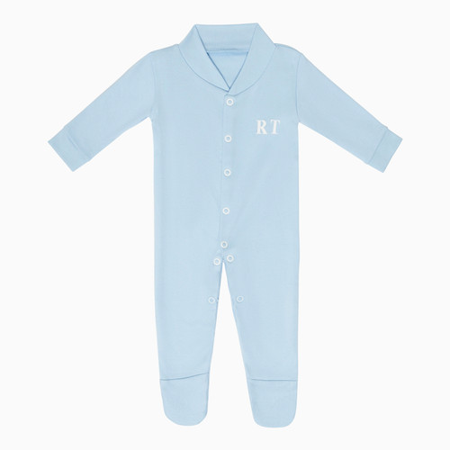 Blue Baby Personalised Super Soft Babygrow