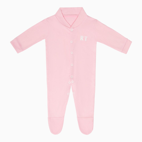 Pink Baby Personalised Super Soft Babygrow
