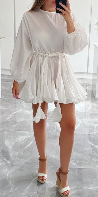 White ELLA Dress