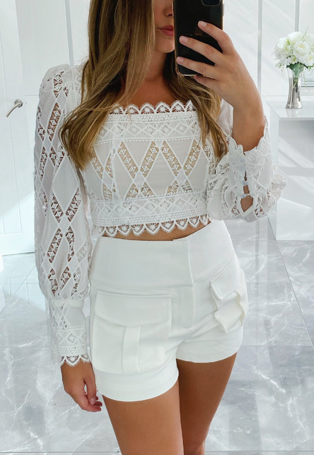 White MYLA Co-Ord Set