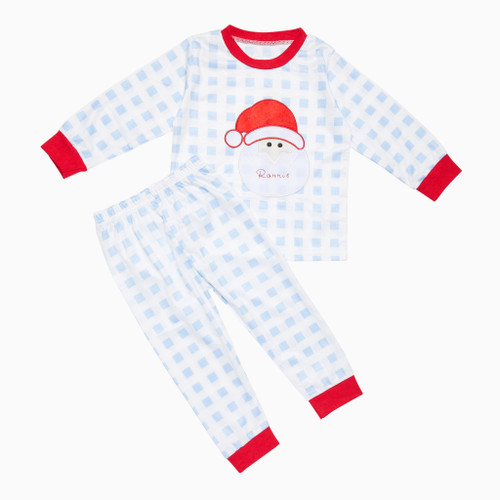 Blue Kids Personalised Santa Pyjamas