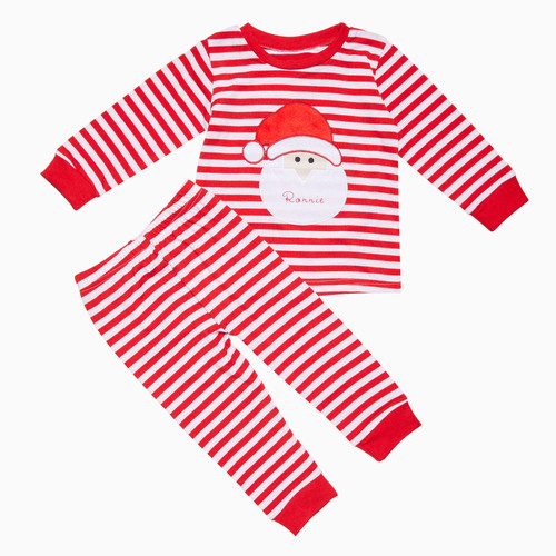 Red Kids Personalised Santa Pyjamas