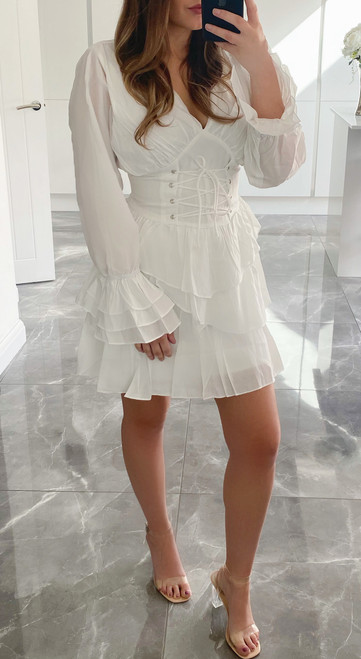 White  DELILAH Dress