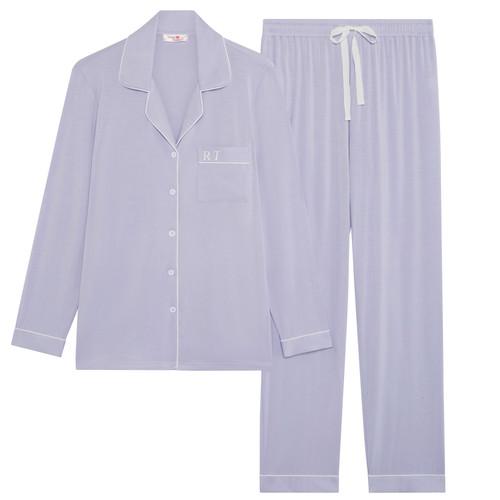 Lilac Super Soft Personalised Long Pyjama Set