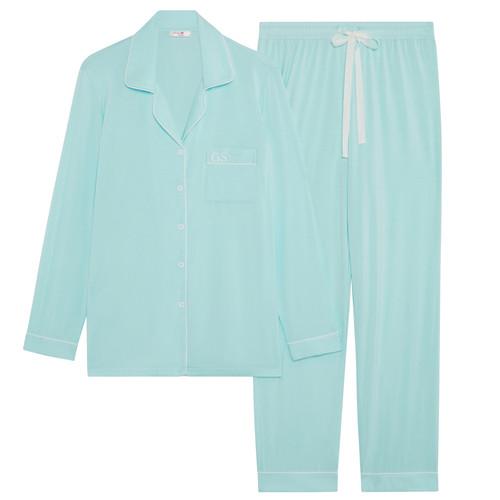 Mint Super Soft Personalised Long Pyjama Set