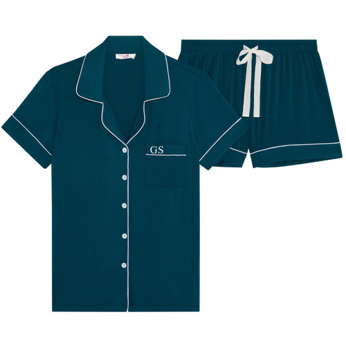 Emerald Green Super Soft Personalised Short Pyjama Set