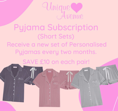 SUBSCRIPTION - Short Personalised Pyjamas (SAVE £10)