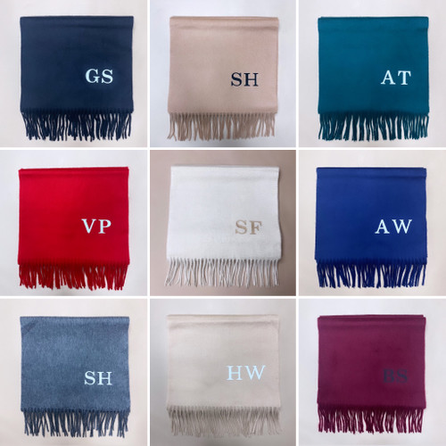 Personalised Super Soft Cashmere Scarf