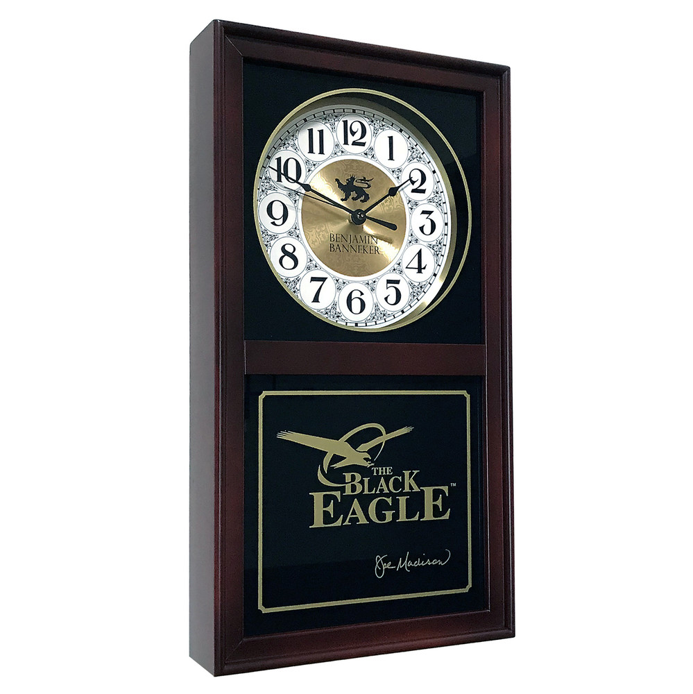 Black Eagle Clock (BURGUNDY)