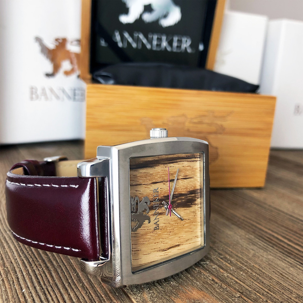 All Banneker watches come packed in a wood watch case and packaged in a White Gift Box.  This is the perfect gift for him or her.  Everyone loves the Baller by Banneker.
