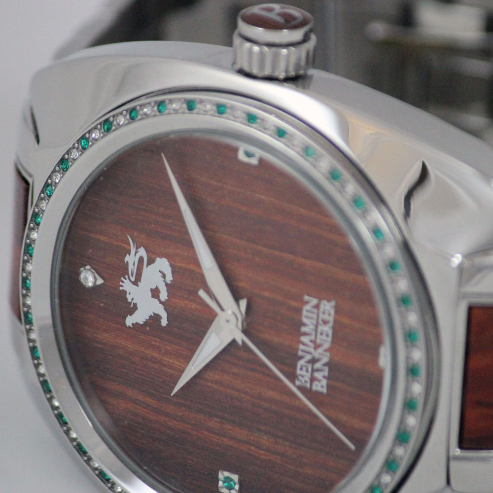 Real Wood Watch with precious stones this watch is designed to stand out in a crowd.