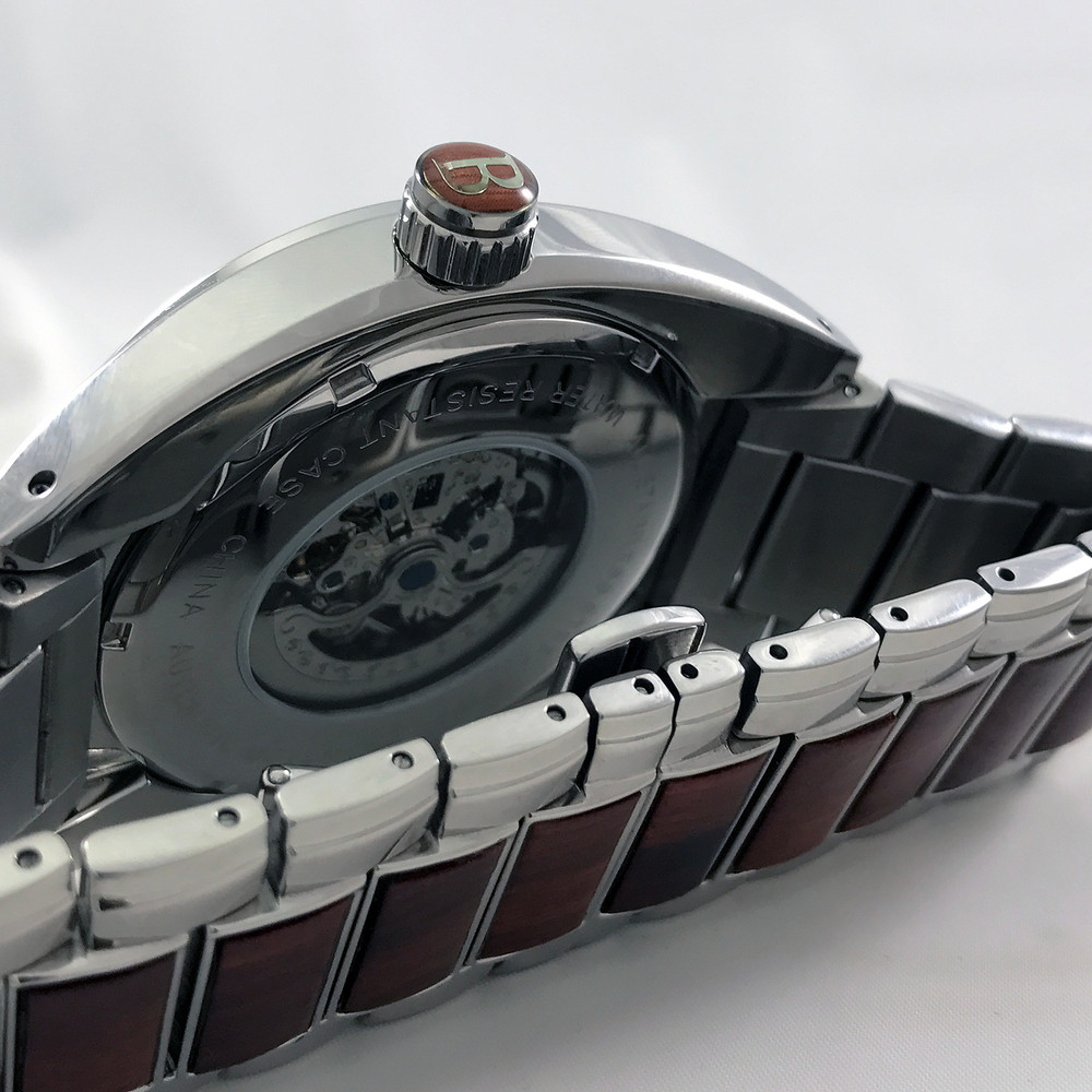 Automatic Movement is visible through the clear case back.
