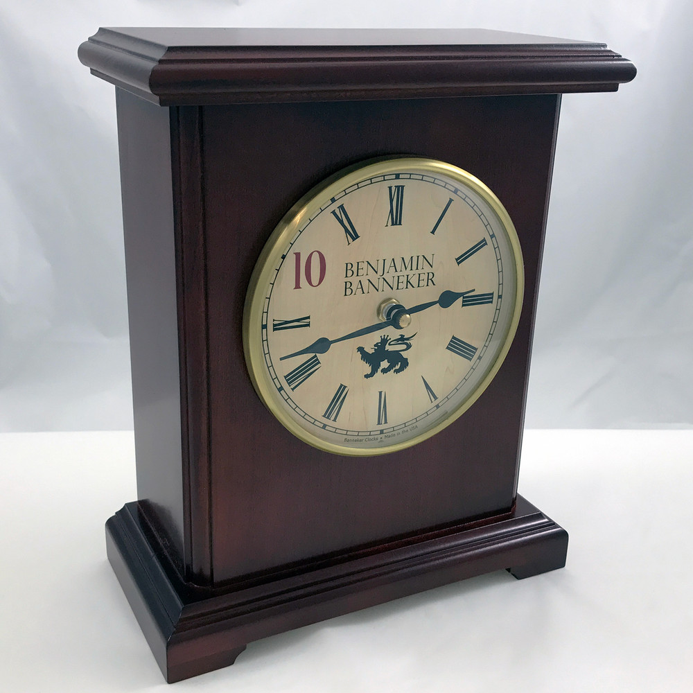 This clock is built to last.  Solid American Cherry Wood house the ultra reliable movement.