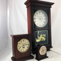 Check out all the Benjamin Banneker Clocks available in Burgundy and made from Real American Cherry Wood.