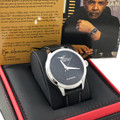 """The Black Eagle Watch is the signature watch for Joe Madison.  Classic Style, Timeless Design, Stainless Steel, Leather Band, Limited Edition Numbered on Back, Swiss Movement, and """"Black Eagle"""" Cubic Zirconia stones."""