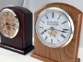 The 3500 is a timeless Benjamin Banneker Desk Clock that is made in America and perfect for your desk or mantel.  Shown in Burgundy (Dark) and Autumn (Light)