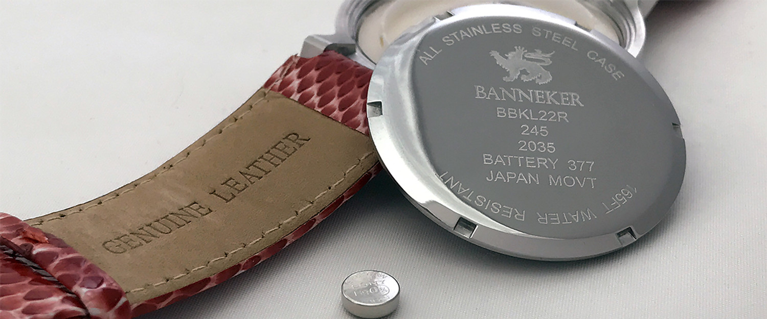 Banneker Watch Warranty / Battery Information