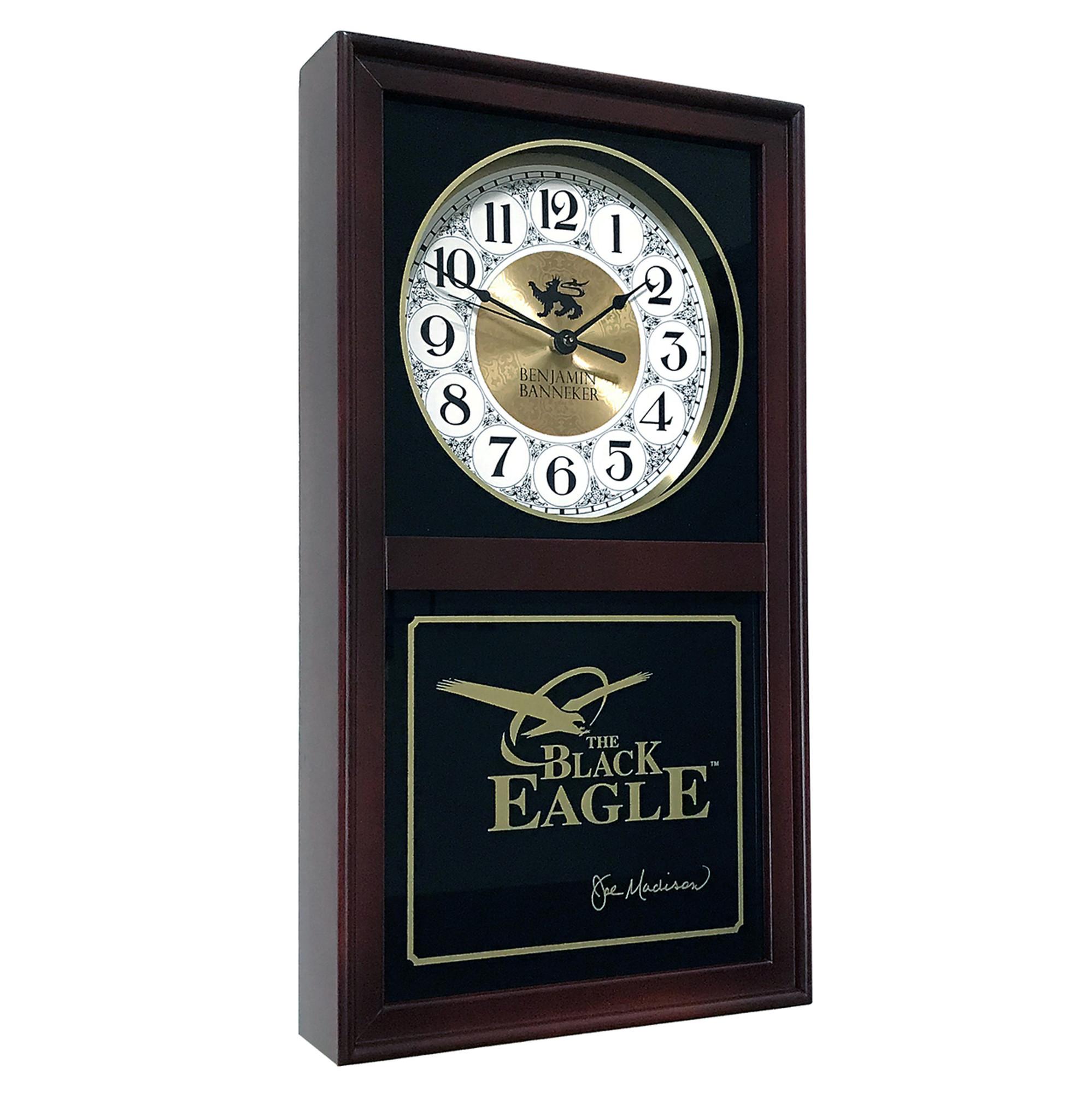 benjamin banneker black eagle clock burgundy