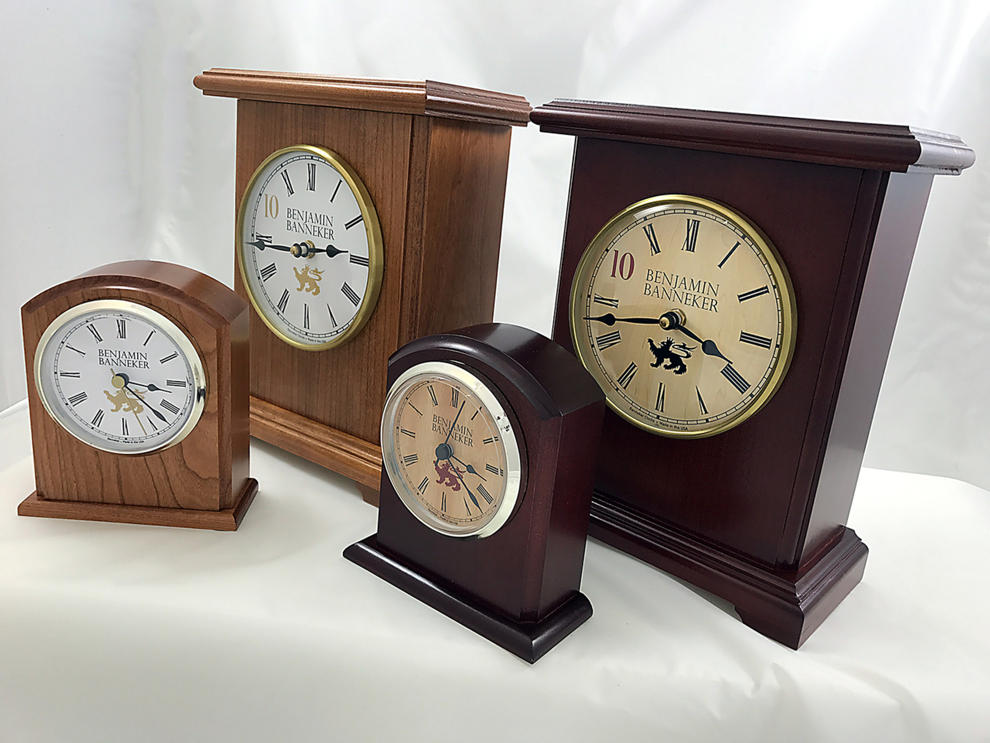 dbbeb13d5e2b4 ... The smaller Banneker Clocks are the 3500 BC Desk Clock made from a  solid block of
