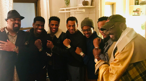 Otis Williams and Cast of Hit Broadway Musical wearing Banneker watches