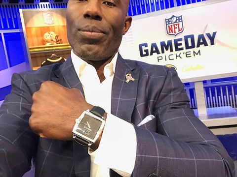 Terrell Davis - NFL Hall of Fame Member wearing Banneker on NFL Gameday