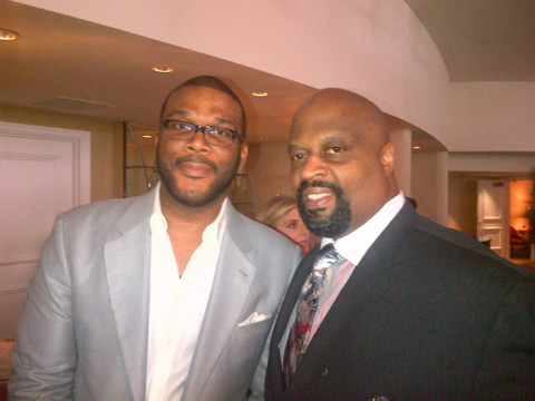 Tyler Perry wearing Banneker Watches in The Single Moms Club