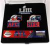 Super Bowl LIII (53) Patriots vs. Rams Dueling Pin Set - Limited 5,000