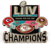 Super Bowl LIV (54) Champions Ultimate Pin - Limited 1,000 - Medium Style