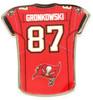 Ron Gronkowski Tampa Bay Buccaneers Jersey Pin