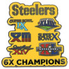 Pittsburgh Steelers 6-Time Super Bowl Champions Pin - Limited 1,000