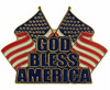 God Bless America Dual Flag Pin