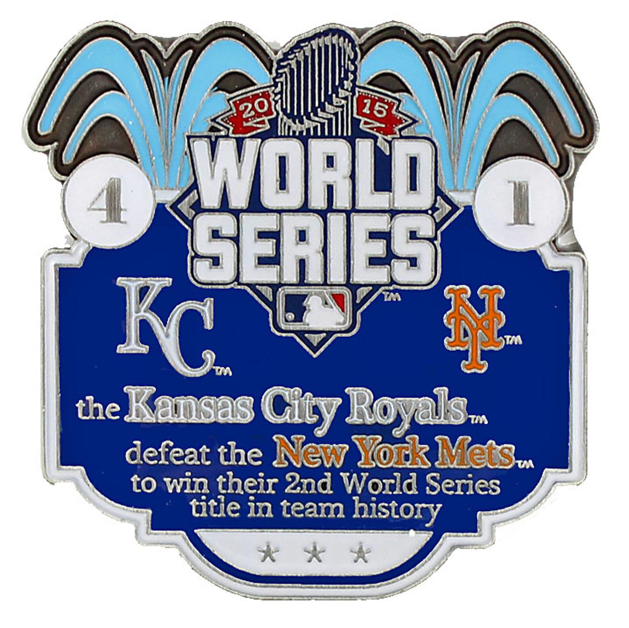 2015 World Series Commemorative Pin - Royals vs  Mets