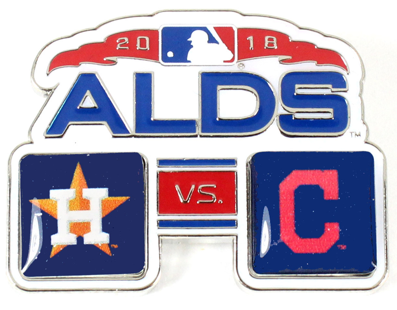 2018 ALDS Match Up Pin - Astros vs  Indians