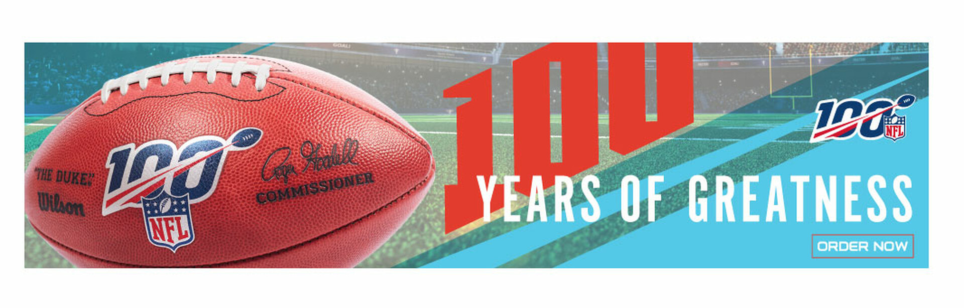 NFL 100 Anniversary Pins