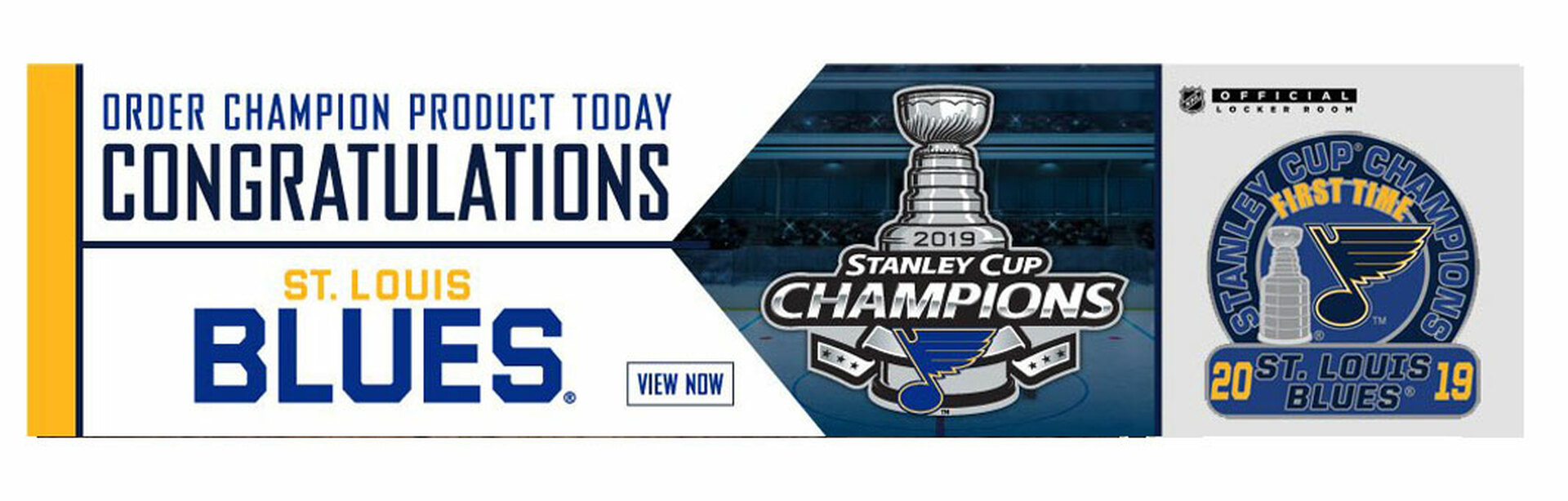 Blue NHL Champs Pins