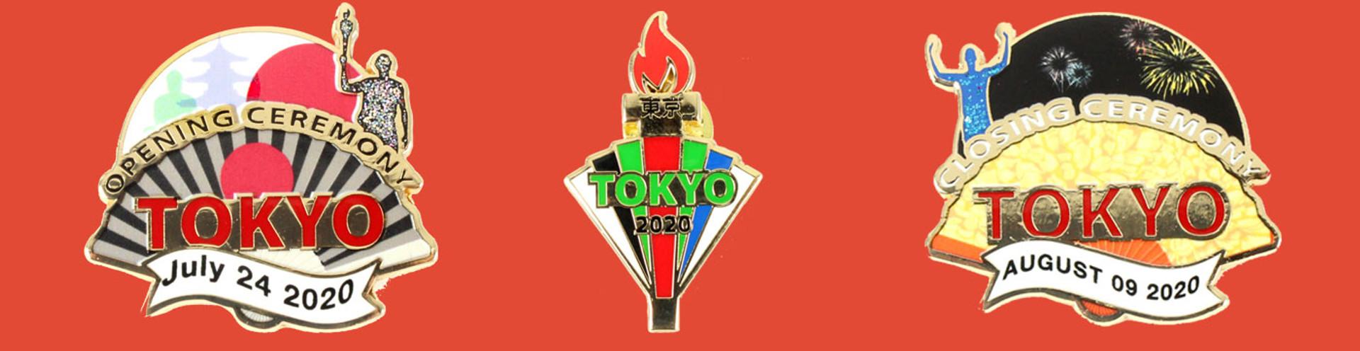 Tokyo Olympic Pins 2020