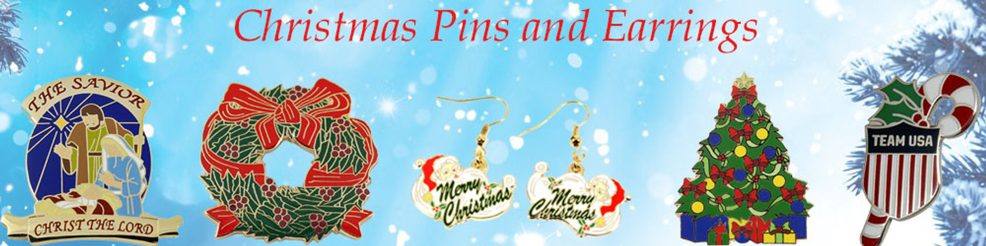 Christmas pins and earrings