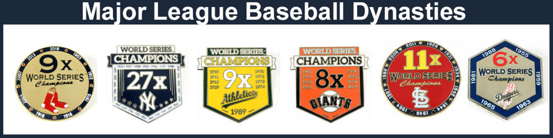 MLB World Series Champs Pins