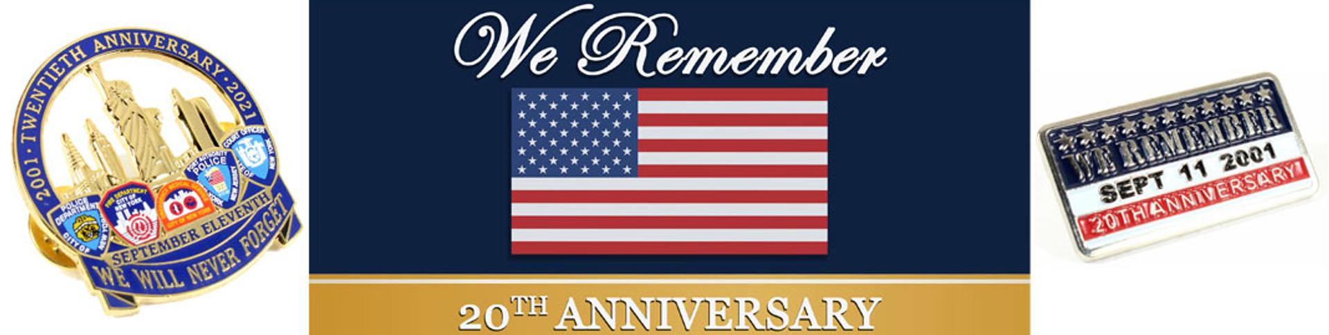 911 20th anniversary pins