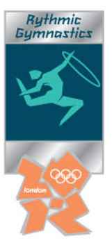 London 2012 Olympics Rhythmic Gymnastics Pictogram Pin