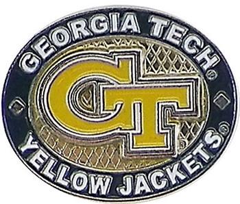 Georgia Tech Yellow Jackets Oval Pin