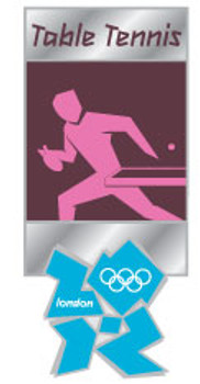 London 2012 Olympics Table Tennis Pictogram Pin