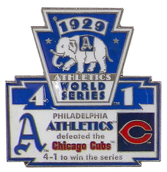 1929 World Series Commemorative Pin - Athletics vs. Cubs