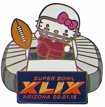 2015 Super Bowl XLIX Hello Kitty Stadium Pin
