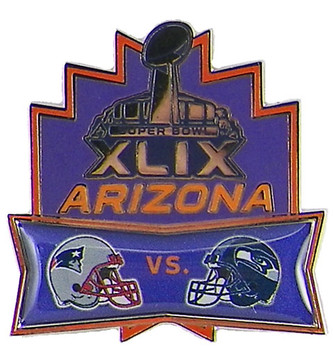 Super Bowl XLIX (49) Patriots vs. Seahawks Dueling Pin
